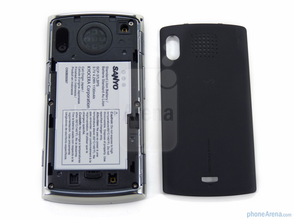 The back door has a soft touch paint coating - Sanyo Zio Review