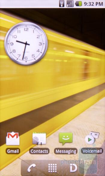 Home screen - Interface of the Sanyo Zio - Sanyo Zio Review