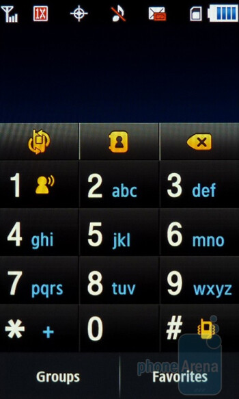 The Dialer screen - Contacts - Samsung Craft Review