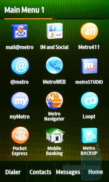 Main menu - The Samsung Craft offers three homesceeens - Samsung Craft Review