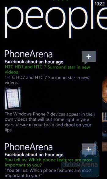 """The """"People"""" Hub - HTC Surround Review"""
