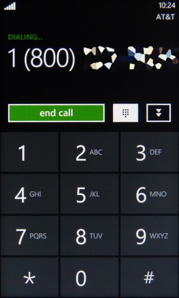Dialing contacts - HTC Surround Review