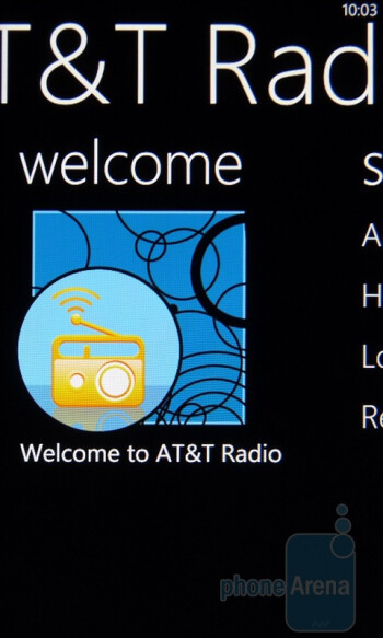 AT&T Radio - AT&T U-verse MobileThe HTC Surround packs in a healthy amount of carrier branded apps - HTC Surround Review