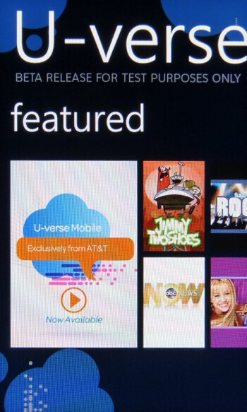 AT&T U-verse MobileThe HTC Surround packs in a healthy amount of carrier branded apps - HTC Surround Review