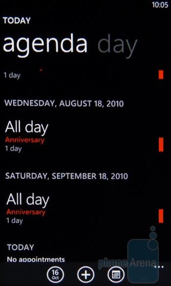 """The """"Calendar"""" app - HTC Surround Review"""
