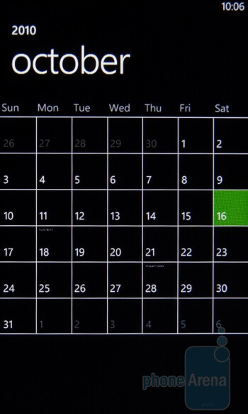 "The ""Calendar"" app - HTC Surround Review"