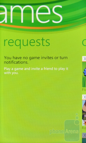 "With the ""Games"" hub, you can sign in with your XBOX Live account - HTC Surround Review"