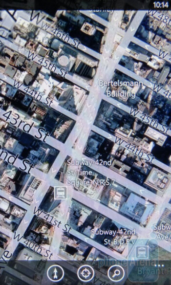 Bing Maps for Windows Phone 7 on the HTC Surround - HTC Surround vs Apple iPhone 4