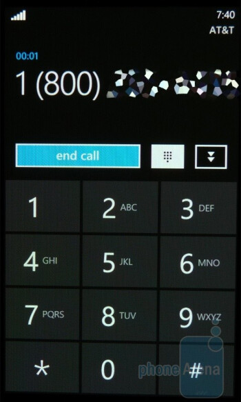 Dialing contacts - Samsung Focus Review
