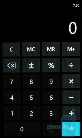 Calculator - Samsung Omnia 7 Review