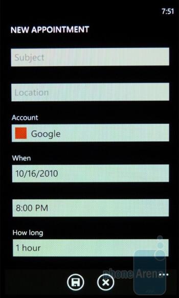 The Calendar of the Samsung Omnia 7 - Samsung Omnia 7 Review