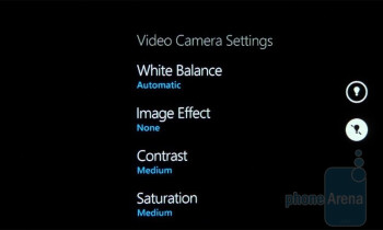 The camera interface of the Samsung Focus - Samsung Focus vs Samsung Captivate