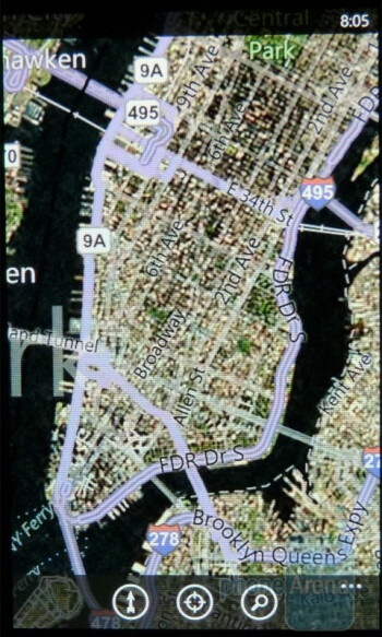 Bing Maps for Windows Phone 7 - LG Quantum vs Samsung Focus