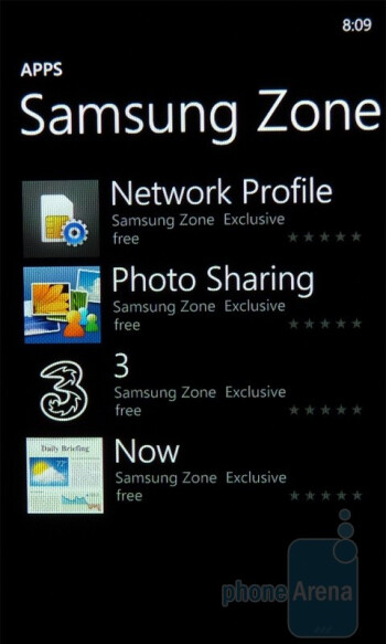 "The ""Marketplace"" hub gives you the opportunity to download apps,and will also display any updates required for existing apps on the Samsung Focus - Samsung Focus Review"