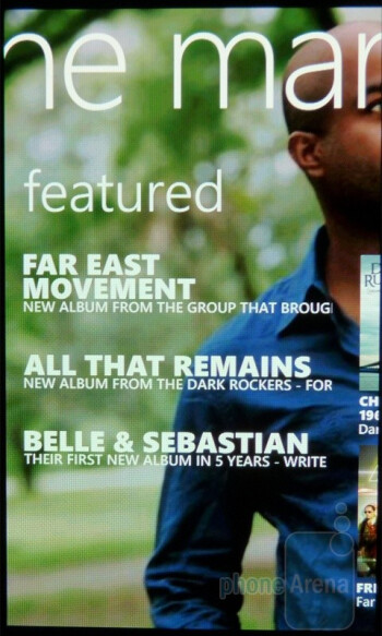 Zune Marketplace holds a cornucopia of songs - Samsung Focus Review