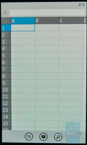 You can also create, view and edit Excel files - Samsung Omnia 7 Review