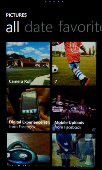 """Gallery - The """"Pictures"""" hub - Samsung Focus Review"""