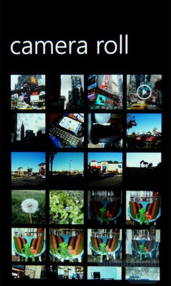 """Camera roll - The """"Pictures"""" hub - Samsung Focus Review"""