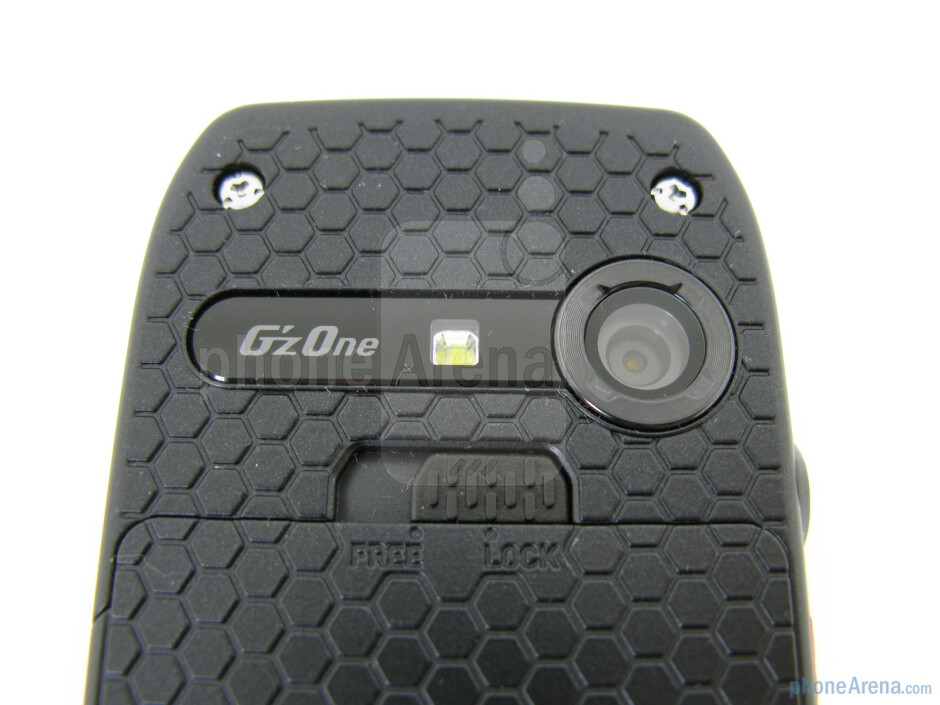 On the back is the 3.2MP camera and LED flash - Casio G'zOne Ravine Review