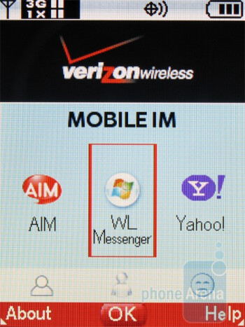 AIM - Most other features remain the same that we've seen from other Verizon devices - Casio G�zOne Ravine Review