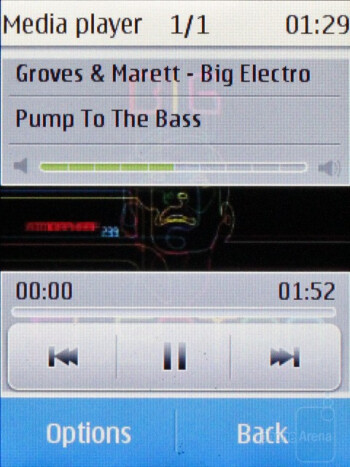 The music player on the Nokia Touch and Type - Nokia X3 Touch and Type Review