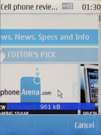 Web browsing on the Nokia Touch and Type  - Nokia X3 Touch and Type Review