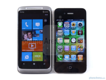 HTC Surround vs Apple iPhone 4