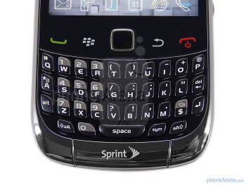 QWERTY keyboard - RIM BlackBerry Curve 3G for Sprint Review