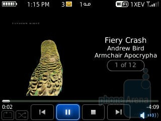 Music player - RIM BlackBerry Curve 3G for Sprint Review