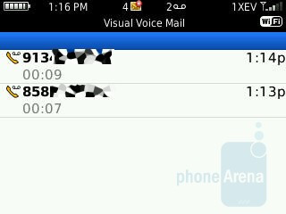 Sprint's visual voicemail - RIM BlackBerry Curve 3G for Sprint Review