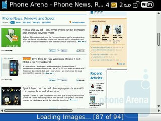 Web browser - RIM BlackBerry Curve 3G for Sprint Review