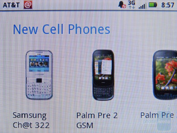 Web browsing on the Motorola FLIPOUT - Motorola FLIPOUT for AT&T Review