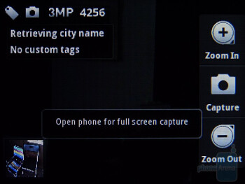 The interface of the camera / video camera - Motorola FLIPOUT for AT&T Review