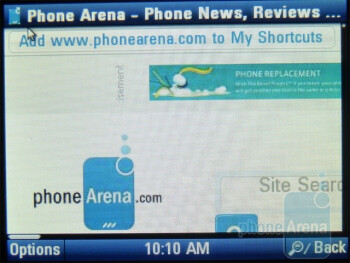 Web browsing - LG Neon II Review