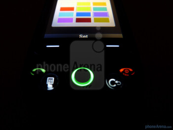 The LG Neon II sports a joystick which illuminates in various colors for notifications - LG Neon II Review