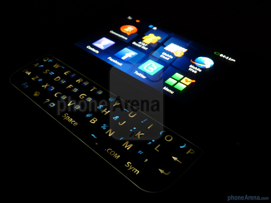 The Pantech Laser has a 4 row QWERTY keyboard - Pantech Laser Review