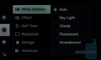 Camera interface - Pantech Laser Review