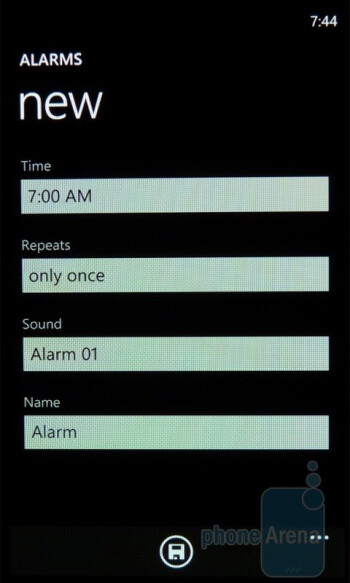 Alarm - Samsung Omnia 7 Review