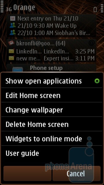 The homescreen is comprised of a variable number of pages (1-3) and is able to host up to 6 widget blocks per page - Nokia C7 Review