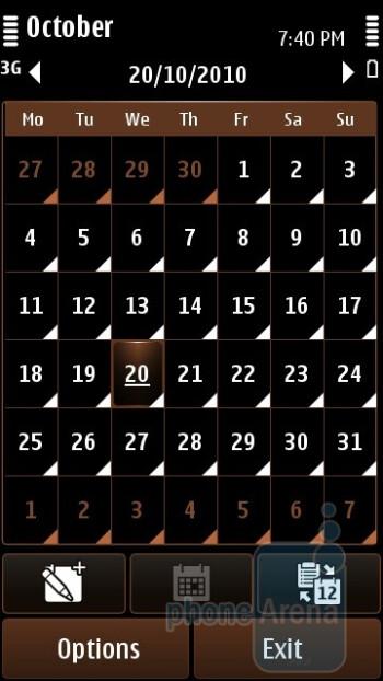 Calendar - Nokia C7 Review