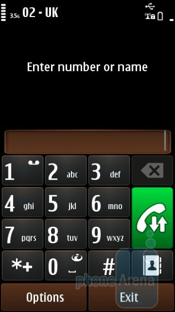 The dialer of the Nokia C7 - Nokia C7 Review