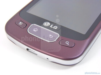 Physical buttons - LG Optimus T Review