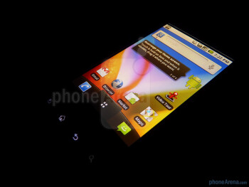 """The LG Optimus T features a 3.2"""" HVGA (320 x 480 pixels) capacitive touchscreen - LG Optimus T Review"""