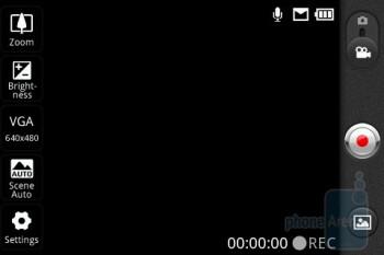 Camera interface - LG Optimus T Review