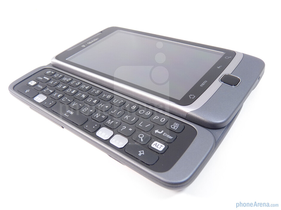 """The T-Mobile G2 incorporates the """"Z-hinge"""" to expose its QWERTY - T-Mobile G2 Review"""