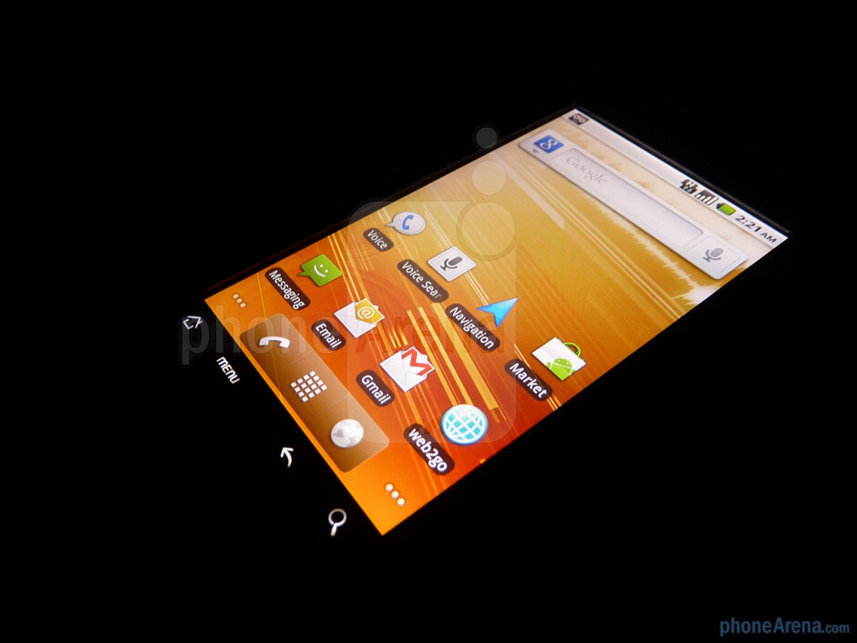 """The G2 resorts to using a 3.7"""" TFT display with WVGA resolution - T-Mobile G2 Review"""