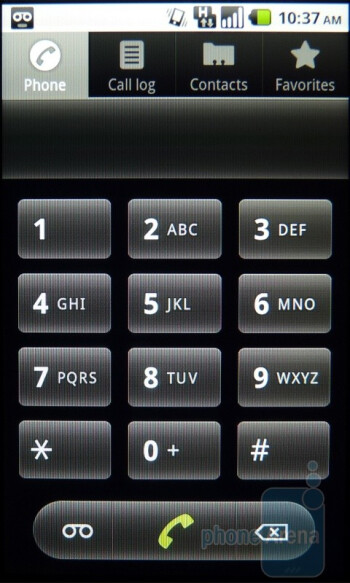Dialing screen - T-Mobile G2 Review