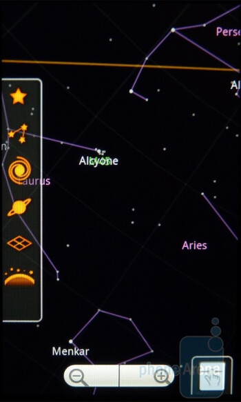 Google Sky Map - The T-Mobile G2 boasts a ton of Google branded apps out of the box - T-Mobile G2 Review