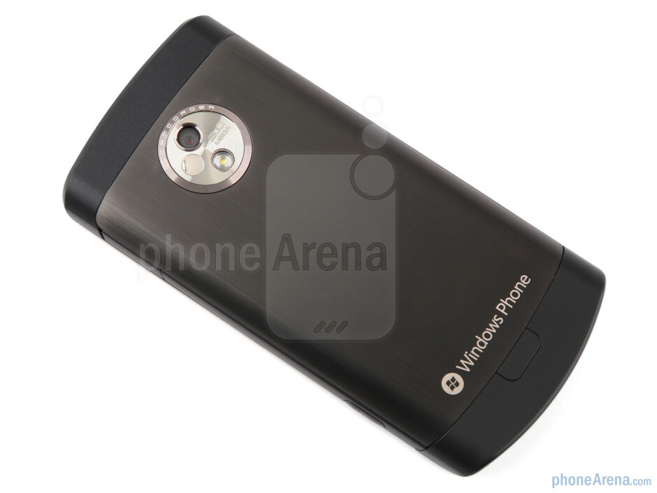 The large metal battery cover makes the phone feel extremely slick and gives it a sense of luxury - LG Optimus 7 Review