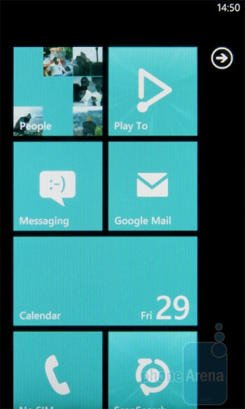 The home screen of the LG Optimus 7 - LG Optimus 7 Review